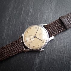 Rolex Tudor Rose Bombee Lugs 1940s Vintage Calibre 59 Manual Mechanical Watch in Jewellery & Watches, Watches, Parts & Accessories, Wristwatches | eBay