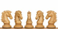"Wellington Chess Set Ebony-Padauk 4.25"" King"