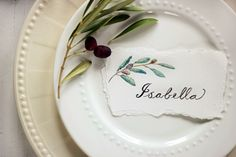 water color place cards for holiday fun
