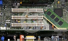 Inside the Machine. Miniature workers inside the guts of a pc emulating the task , Concept, Website Ideas, Stock Photos, Miniature, Image, Metal, Mini Things, Metals