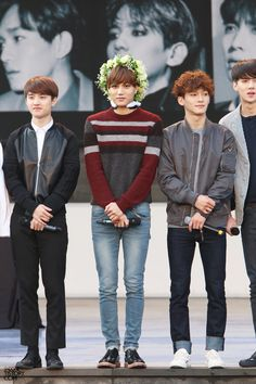 D.O, Kai, Chen and Sehun