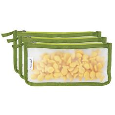 Blue Avocado Snack Zip Bag - Kiwi - 3 Pack