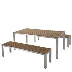 Gartenessgruppe Amalfi XII (7-teilig) - Aluminium - Taupe, Merxx ...