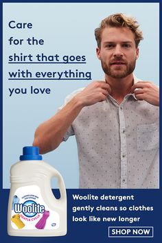 Woolite detergent gently cleans so that clothes look like new longer. Let Woolite care for the shirt you love that goes with everything. Shop Now. Boy Clothing, Clothes, Hockey Mom, Toddler Boy Outfits, Laundry Detergent, Mom Quotes, Mom Shirts, Mom Style, Laundry Room
