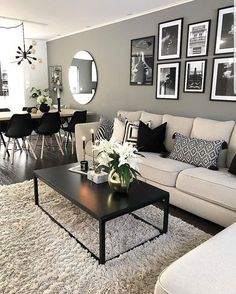 Keep up to date with the most recent small living room decor some ideas (chic & modern). Find excellent techniques for getting trendy design even if you have a small living room. Living Room Ideas 2019, Living Room Inspiration, Hallway Inspiration, Cool Living Room Ideas, Dinning Room Ideas, Decorating Ideas For The Home Living Room, Small Living Room Designs, Living Room Decor Pictures, Best Living Room Design