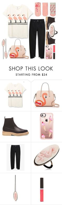 """Flamingos on The Go"" by emcf3548 ❤ liked on Polyvore featuring Kate Spade, Flamingos, Casetify, Monki, Anna e Alex and Becca"
