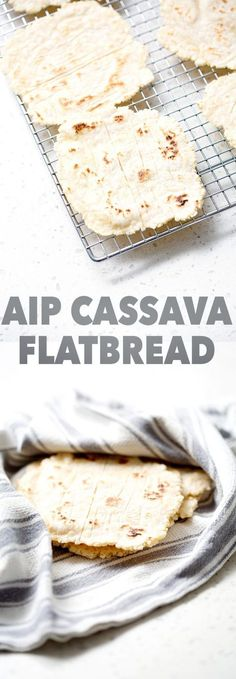 Here's an AIP Cassava Flatbread recipe that contains no coconut, no dairy, no grains and no egg. It's just the right combination of cassava and squash to create a chewy and tender flatbread. This recipe is allergy friendly (gluten, dairy, shellfish, nut, egg, and soy free) and suits the autoimmune protocol diet (AIP), paleo and vegan diets.