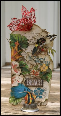 Created this using a tag from the Large Tag Album and Tropical Travelogue Collection. #graphic45 #thescrapbookingstudio