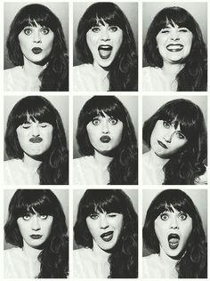 Zooey Deschanel's Expressions