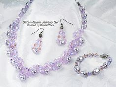 Lavender w/silver beads