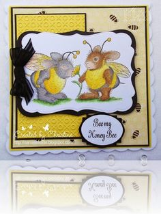 Valentine Honey Bee DT card for House Mouse & Friends Mon. chall