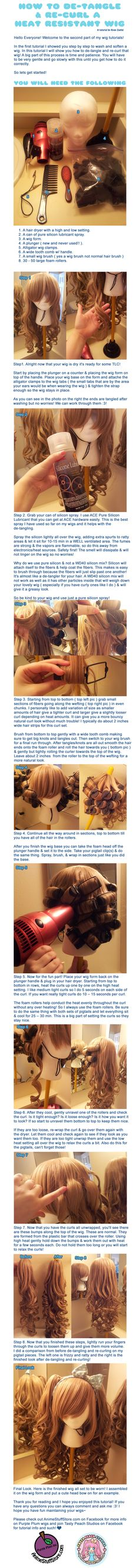 How to De-tangle and Re-curl a Heat Resistant Wig by *MoogleGurl on deviantART