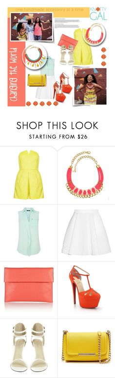 """Best Spring Look with Knotty Gal"" by mfardilha ❤ liked on Polyvore featuring Topshop, California Love, Oasis, Faith Connexion, Marni, Christian Louboutin, Emilio Pucci, Knotty Gal and knottygal"