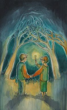 Our goal is to keep old friends, ex-classmates, neighbors and colleagues in touch. Art And Illustration, Illustrations, Green Lamp, Romance Art, More Photos, Art Boards, Color Mixing, Watercolor Art, Fairy Tales