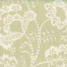 Tallulah Limelight Green Cotton Floral Drapery fabric by Richloom