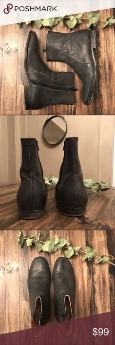 MENS MAISON MARGIELA FOR H&M DISTRESSED BOOT MAISON MARGIELA FOR H&M DISTRESSED BOOT // GENTLY WORN// POLISH YOUR DRESS DOWN; TOUGHEN YOUR DRESS UP Maison Martin Margiela Shoes Boots