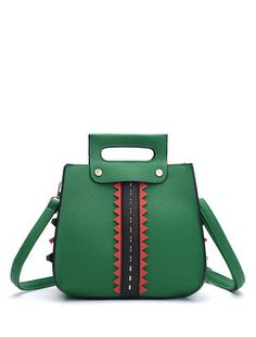 d42439c42901 Rivets Textured Leather Handbag (Green) Green Purse