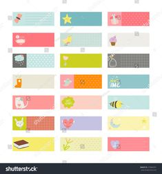 Romantic and love cards, notes, stickers, labels, tags with Spring illustrations. Template for scrapbooking, wrapping, congratulations, invitations.