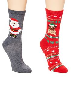 Celebrate the season with these socks that feature jolly designs and cozy construction. All Things Christmas, Medium, Pugs, Snowman, Brick, Santa, Socks, Cozy, Celebrities