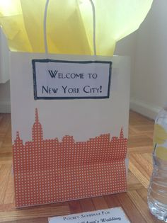 Design stenciled on scrapbook paper and mod-podged on white gift bags
