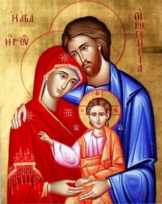 The Holy Family Greek Orthodox Icons, Byzantine Icons, Greek Icons Religious Images, Religious Icons, Religious Art, Byzantine Art, Byzantine Icons, Greek Icons, Religion Catolica, Russian Icons, Madonna And Child