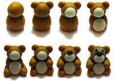 Seasonal Teddy Bear Birthday Cake - How to make a teddy bear out of fondant