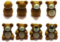 Seasonal Teddy Bear Birthday Cake - How to make a teddy bear out of fondant