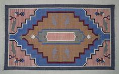 Moroccan Cotton Dhurrie Rug - 3x5, Bohemian Rug, Tribal Rug, Southwestern Rug, Nordic Rug, Kilim Rug, Navajo Rug