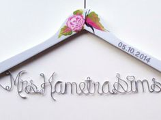 Percha personalizada de parejas/Couples with heart hanger