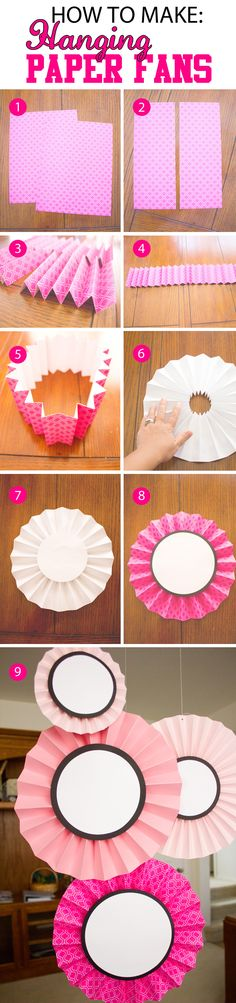 HOW TO MAKE HANGING PAPER FANS