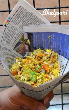 Mumbai street food Bhel puri http://www.upala.net/2015/04/bhelpuri.html