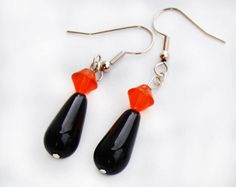 Flying Saucers and Drops  Earrings by HopesHandcrafted on Etsy, $8.00