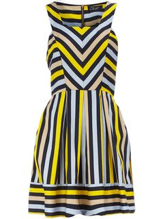 Multi stripe square neck dress  $89.00 Dorothy Perkins // Would like this better in different colors