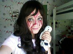 Creepypasta sally. This is AMAZING! I wish I could cosplay as a creepypasta.