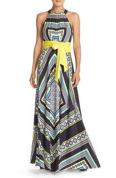 e61ee777df6 Eliza J Scarf Print Crêpe de Chine Maxi Dress available at  Nordstrom Eliza  J Dresses