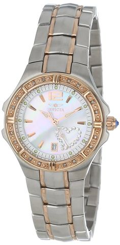 bac1d3ddaeea Invicta Women s 0694 Wildflower Collection Diamond Accented Two-Tone Watch. Relojes  De ...