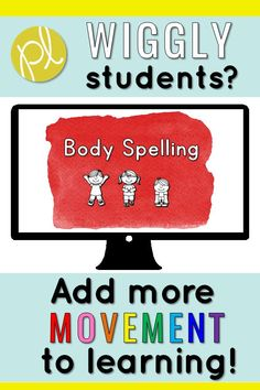 Body Spelling Sight Words - Get up and move! These slides have sight words for your students to spell out with movement! There are 50 sight words included! My students do 5 every day during our literacy block - it's perfect for whenever we need to get the wiggles out, but learning needs to keep going. It's even fun for indoor recess!  #bodyspelling #cklatrickywords