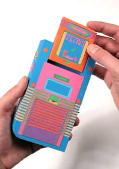 80′s Electronics Recreated Out of Paper