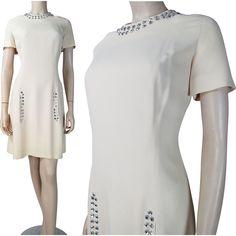 1960's Vintage Neal McClintock Shift Dress With Rhinestone Embellishment