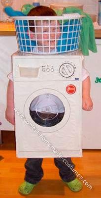 disfraz super original y divertido hecho a mano para un niño dentro de una lavadora  #diy #carnaval #disguises #carnival #crafts #funny #dressup #costumes #original #hechoamano #niños #kids  #lavadora #laundry