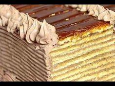 Doboš torta - ceo postupak Dobos Cake Recipe, Cake Frosting Recipe, Frosting Recipes, Cake Recipes, Cookie Desserts, Food Art, Sweets, Christmas Foods, Baking Ideas
