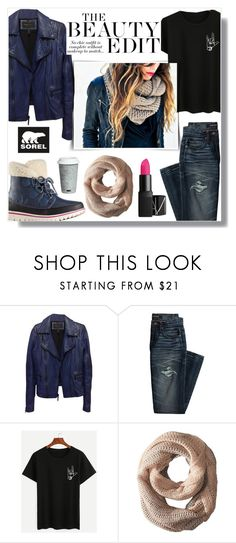 """""""Kick Up the Leaves (Stylishly) With SOREL: CONTEST ENTRY"""" by asiyaoves ❤ liked on Polyvore featuring BCBGMAXAZRIA, Canvas by Lands' End, SOREL, Michael Stars, Fitz & Floyd and sorelstyle"""