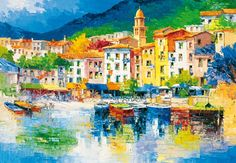 A hand-painted effect lends an artistic touch to this quaint rivera scenic mural. x 8 Panel Mural Paste Included Vinyl Coated Paper Large Wall Murals, Mural Wall Art, Wallpaper Panels, Home Wallpaper, Wallpaper Murals, Kunst Poster, Poster Prints, Art Prints, Abstract