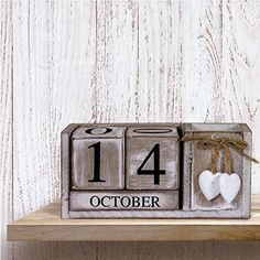 Résultats de recherche d'images pour «vintage perpetual wooden calendar»