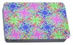 Celebrate Textile Portable Battery Charger featuring the digital art Celebrate Textile by Kimberly Hansen