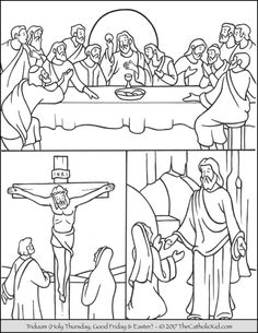The Catholic Kid - Catholic Coloring Pages and Games for Children Catholic Lent, Catholic Crafts, Church Crafts, Jesus Coloring Pages, Easter Coloring Pages, Coloring Books, Sunday School Activities, Sunday School Crafts, Sunday School Coloring Pages