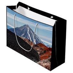 #photo - #Scenic summer panorama volcano landscape large gift bag