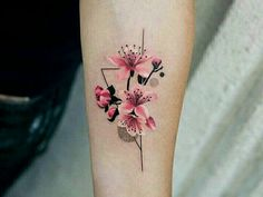 BeautifulDelicate Watercolor Cherry Blossom Forearm Tattoo Ideas for Women - ide. - BeautifulDelicate Watercolor Cherry Blossom Forearm Tattoo Ideas for Women – ideas delicadas del - Floral Tattoo Design, Flower Tattoo Designs, Tattoo Designs For Women, Tattoos For Women, Trendy Tattoos, Mini Tattoos, Small Tattoos, Delicate Flower Tattoo, Flower Tattoo Back