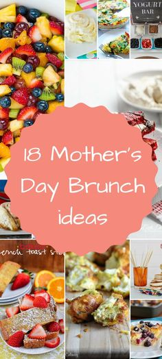 It's almost mother's day and I know that doing brunch is a favorite way for us to celebrate. So here are 18 Mother's day brunch ideas to try. day dinner party ideas 18 Mother's Day Brunch ideas - A Fresh Start on a Budget Mothers Day Meals, Mothers Day Dinner, Mothers Day Decor, Mothers Day Breakfast, Breakfast Ideas, Breakfast Recipes, Breakfast Pizza, Savory Breakfast, Breakfast Muffins