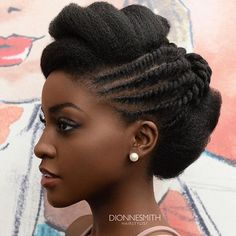Queen  gorgeous @nakawunde loving this natural updo By @dionnesmithhair for @designessentialsuk @designessentials at @afrohairandbeautylive  Makeup by @wavenneythemua for @paulinebriscoe Styling @ericafmstyle  #BellaNaijaWeddings
